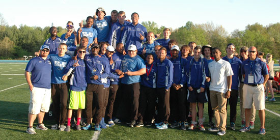 The LWC men's team captured the first conference title in program history