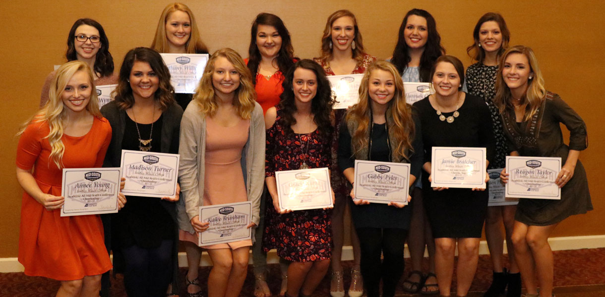 Photo for Cheerleading tops conference with 14 Academic MSC honorees