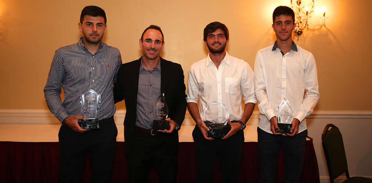 Photo for Porcic, Solans Diaz, Depiaggio and Dal Pont sweep major awards at MSC Men's Tennis banquet