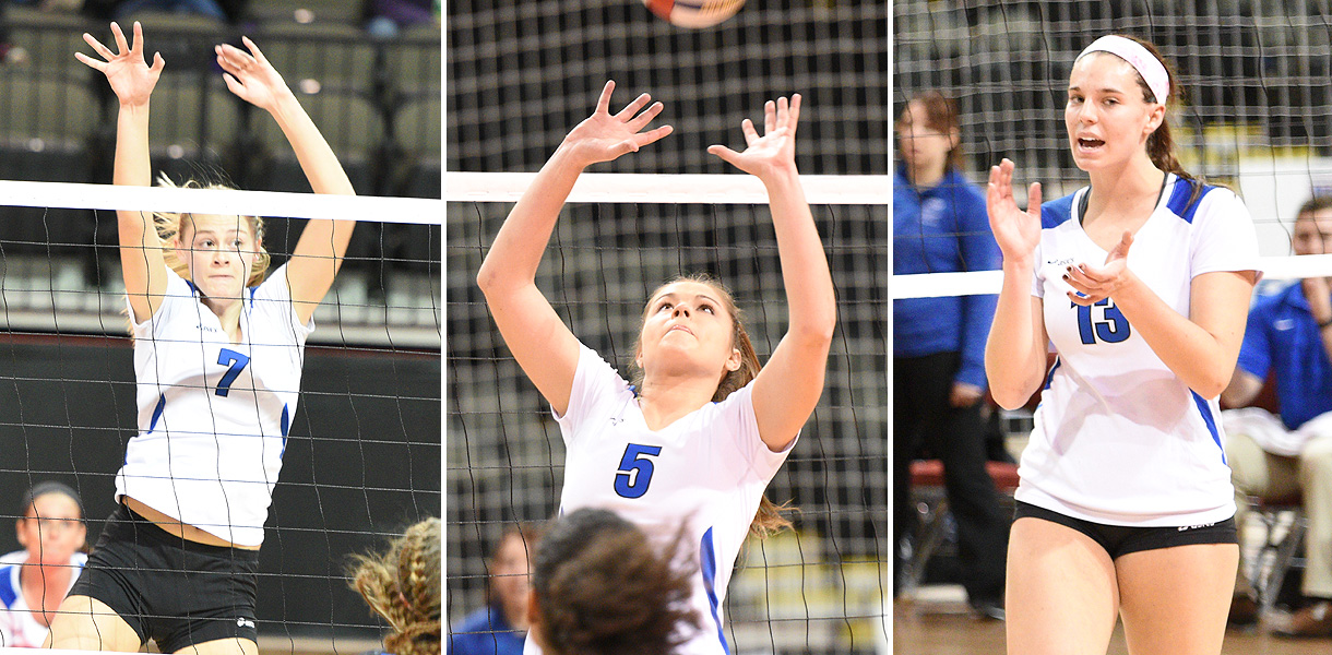 Photo for Montano, Blomstedt and Burke earn Tachikara-NAIA Volleyball All-American honors