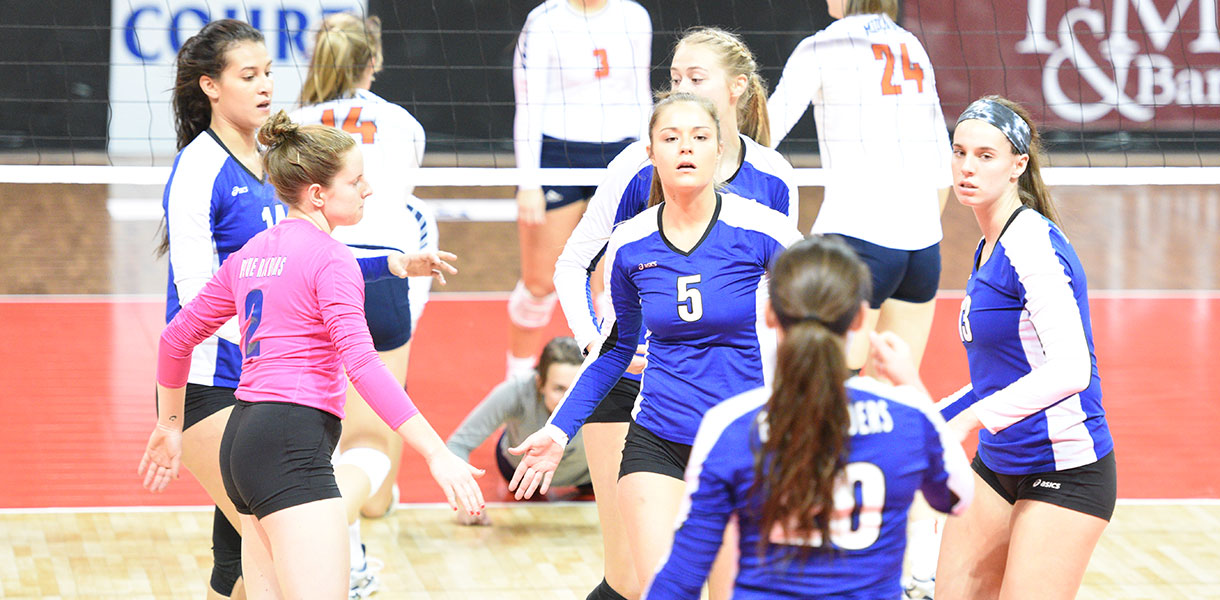 Photo for Volleyball's season ends with 3-1 loss to Midland in NAIA National Quarterfinals