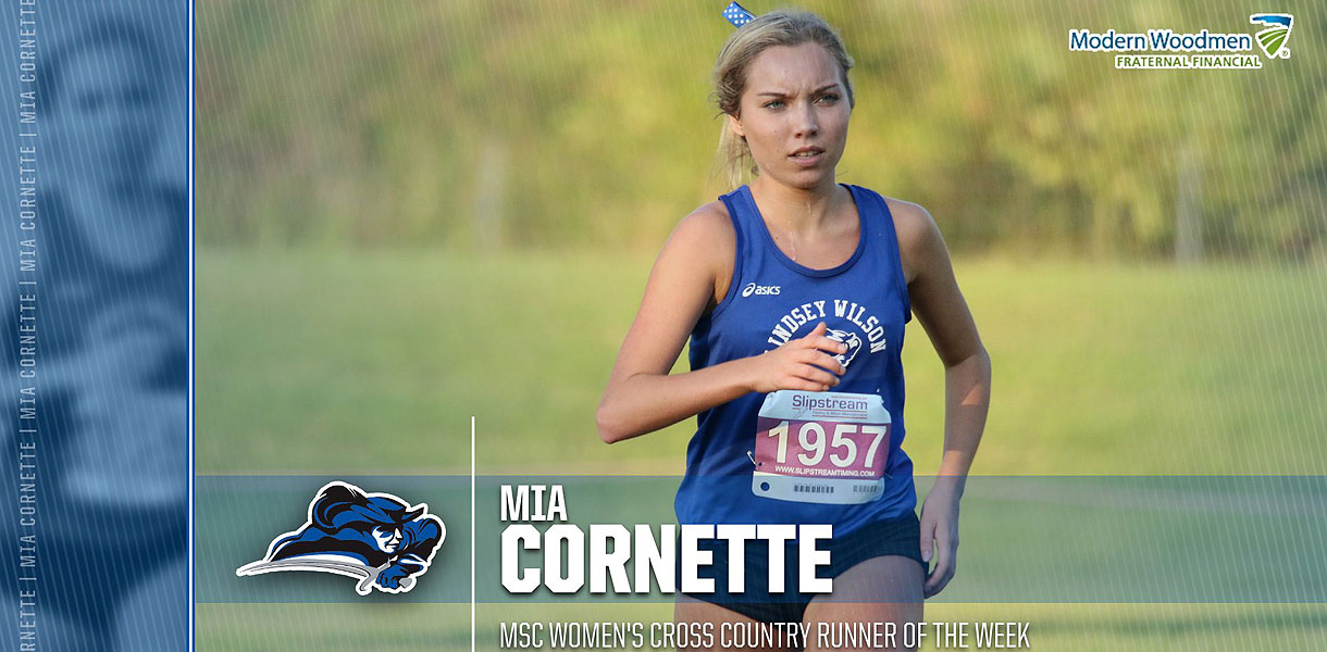 Photo for Cornette earns MSC Women's Cross Country Runner of the Week accolades
